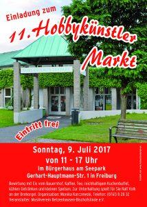 11 hobbyk nstler markt sonntag 9 juli 2017 freiburg mooswald online. Black Bedroom Furniture Sets. Home Design Ideas
