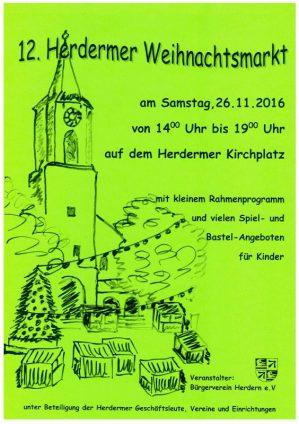 Einladung Weihnachtsmarkt Buergerverein Freiburg Mooswald